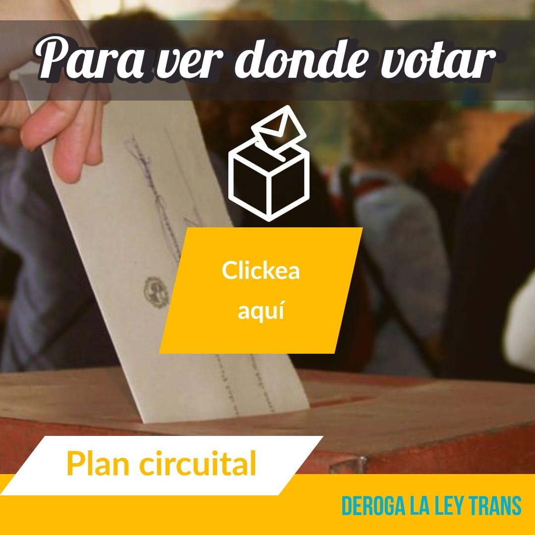 Para saber dónde votar haz click aquí